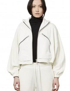 Sweat zippé blanc Thom Krom à capuche pour femme - FW21