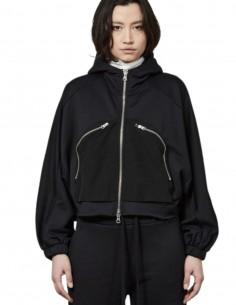 Sweat zippé noir Thom Krom à capuche pour femme - FW21