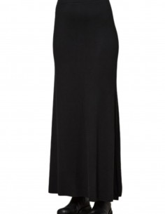 Jupe longue noire fendue Thom Krom pour femme - FW21
