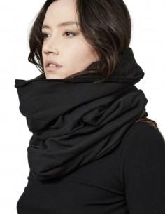 Thom Krom black tube neck scarf for women - FW21
