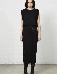 Top noir à épaulettes Thom Krom pour femme - FW21