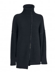 Black Benenato high neck sweater for women - FW21