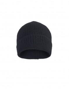 Bonnet côtelé noir Benenato pour femme - FW21