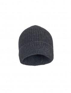 Bonnet côtelé gris Benenato pour femme - FW21