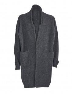 Gilet noir mi long en laine et en yak Benenato pour homme - FW21