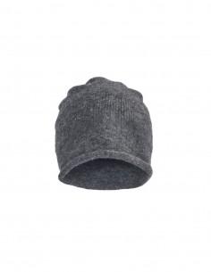 Bonnet gris en laine mélangé Benenato pour homme - FW21
