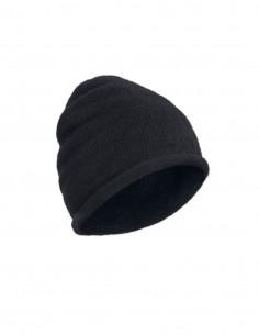Bonnet noir en laine mélangé Benenato pour homme - FW21