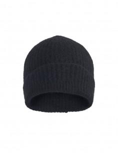 Bonnet côtelé noir Benenato pour homme - FW21