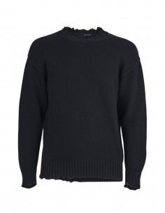 Black destroyed Benenato sweater for men - FW21