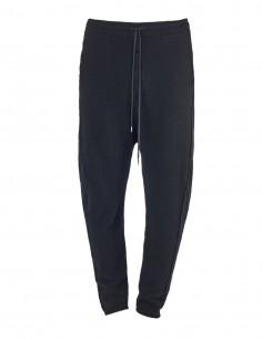 Benenato black wool jogging pants for men - FW21