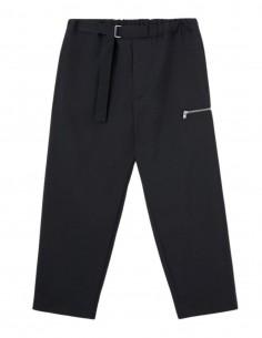 Pantalon noir à boucle argentée OAMC pour homme - FW21