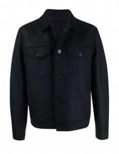 Harris Wharf short navy coat for men - FW21