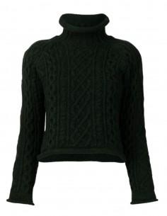 Maison Margiela green twisted knit for women - FW21