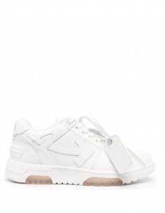 """Unisex Off-White """"OOO"""" white low-top sneakers - FW21"""
