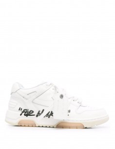 """Unisex Off-White """"OOO for walking"""" white and black low-top sneakers - FW21"""
