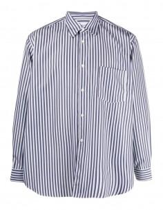 Comme des Garçons Shirt blue and white striped shirt for men - FW21