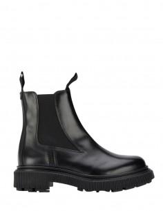 Adieu x Etudes chelsea boots noires en cuir ciré mixte - FW21