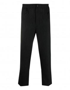 Pantalon noir à plis rayures tennis Ami Paris pour homme - FW21