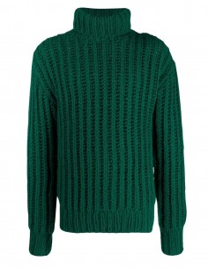 Ami Paris thick stitch green knit for women - FW21