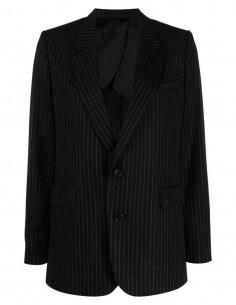 Veste de blazer noire à rayures tennis Ami Paris pour femme - FW21