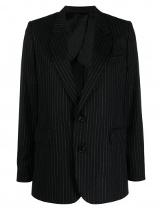 Ami Paris black tennis striped blazer jacket for women - FW21