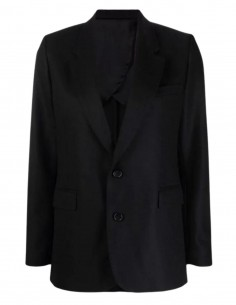 Veste de blazer noire en laine vierge Ami Paris pour femme - FW21