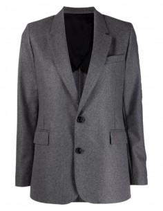 Ami Paris grey virgin wool blazer jacket for women - FW21