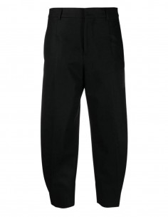 Ami Paris black wool trousers with pleats for women - FW21