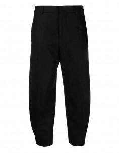 Pantalon noir en laine à pinces Ami Paris pour femme - FW21