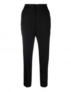 Pantalon cigarette noir Ami Paris pour femme - FW21