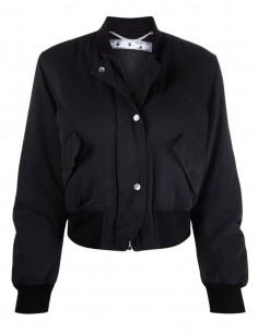OFF-WHITE black bomber jacket in nylon for women - FW21