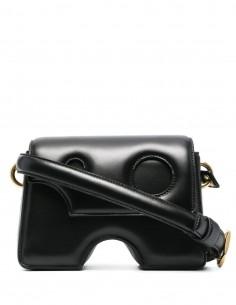 "OFF WHITE black ""Burrow Shoulder"" bag for women - FW21"