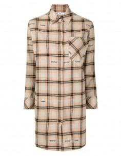 Robe chemise OFF-WHITE à carreaux tricolore pour femme - FW21