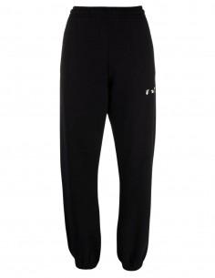 Jogging noir avec logo blanc OFF-WHITE pour femme - FW21
