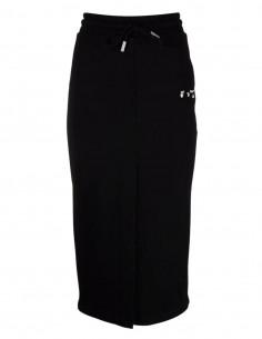 Jupe mi-longue noire façon jogging OFF-WHITE pour femme - FW21