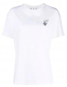 T-shirt blanc avec logo multicolore OFF-WHITE pour femme - FW21