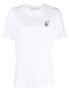 OFF-WHITE white t-shirt with multicolor logo for women - FW21