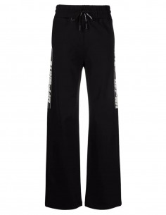 OFF-WHITE black jogging pants with logo band for women - FW21