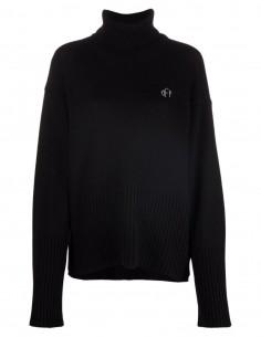 Pull large noir à col roulé OFF-WHITE pour femme - FW21