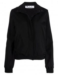 Veste de jogging noir à bande logo Off-White pour femme - FW21