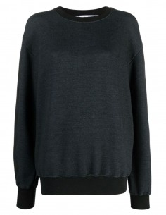 "Off-White anthracite round neck sweatshirt ""Arrow"" for women - FW21"