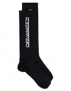 Chaussettes noires à logo blanc OFF-WHITE mixte - FW21