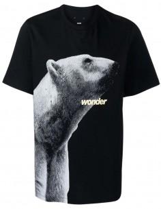 T-shirt noir imprimé ours blanc OAMC pour homme - FW21