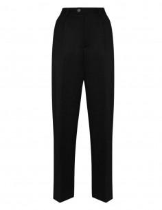MAISON MARGIELA black wool pants for women - FW21