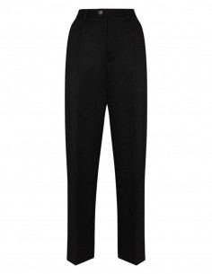 MAISON MARGIELA navy trousers with burgundy braid for women - FW21