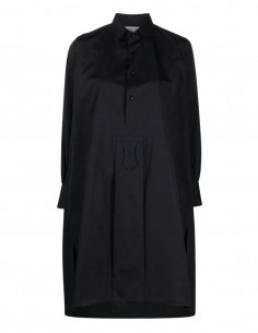 Robe chemise navy à col claudine Maison Margiela pour femme - FW21
