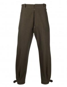 Khaki wool blend pants from Maison Margiela for men - FW21