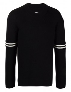 Maison Margiela black wool sweater with round neck for men - FW21