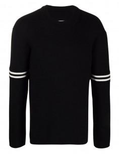 Pull noir en laine à col rond Maison Margiela pour homme - FW21