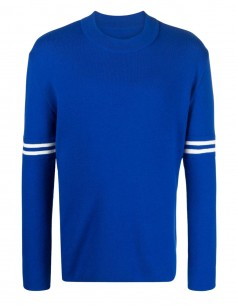 Maison Margiela blue wool sweater with round neck for men - FW21